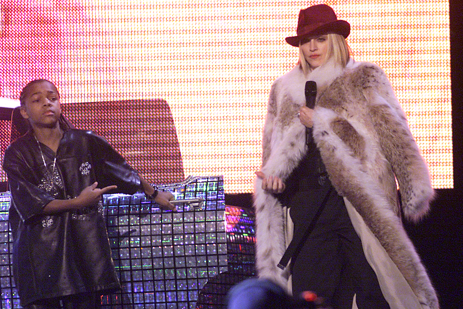 Lil' Bow Wow and Madonna live at The 43rd Annual Grammy Awards