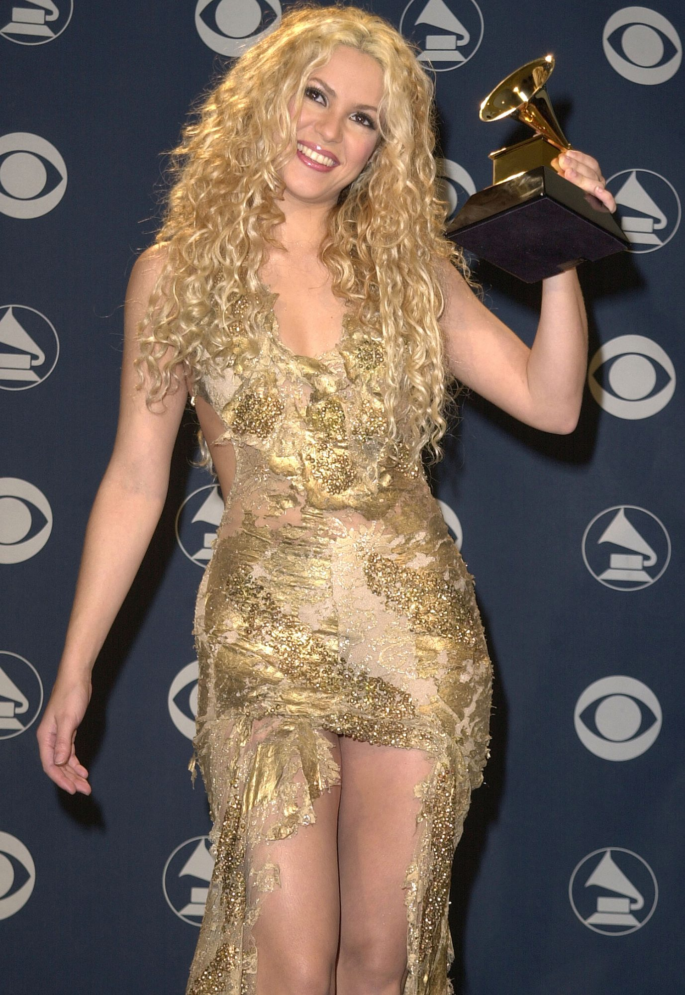 Shakira at the Staples Center in Los Angeles