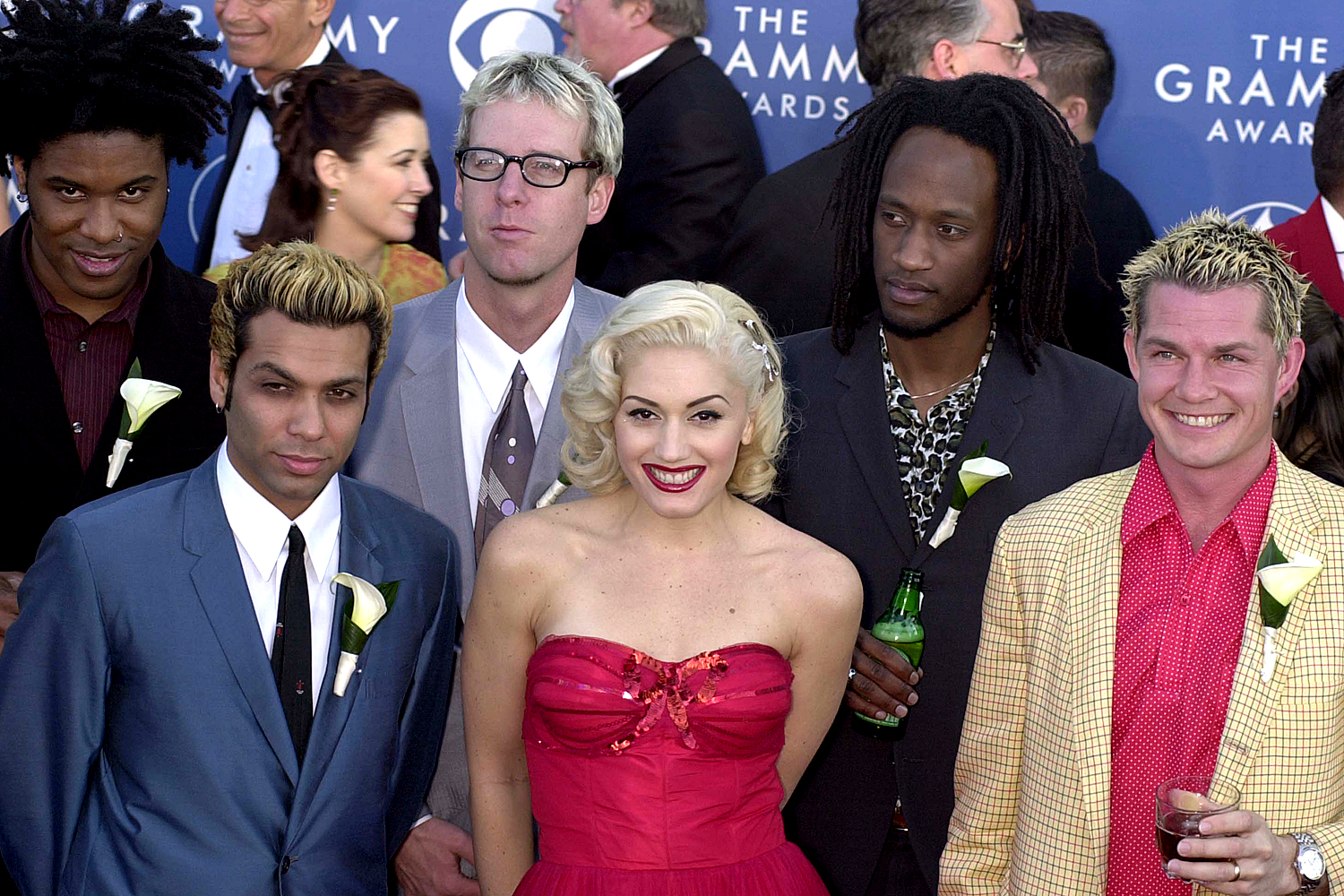 Gwen Stefani and her band No Doubt arrive at the 43rd Annual Grammy Awards