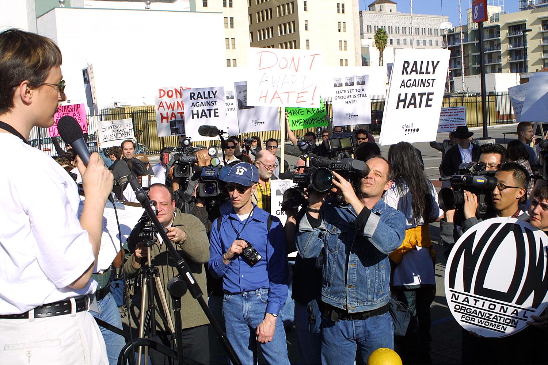 Protest Against Eminem at Grammys