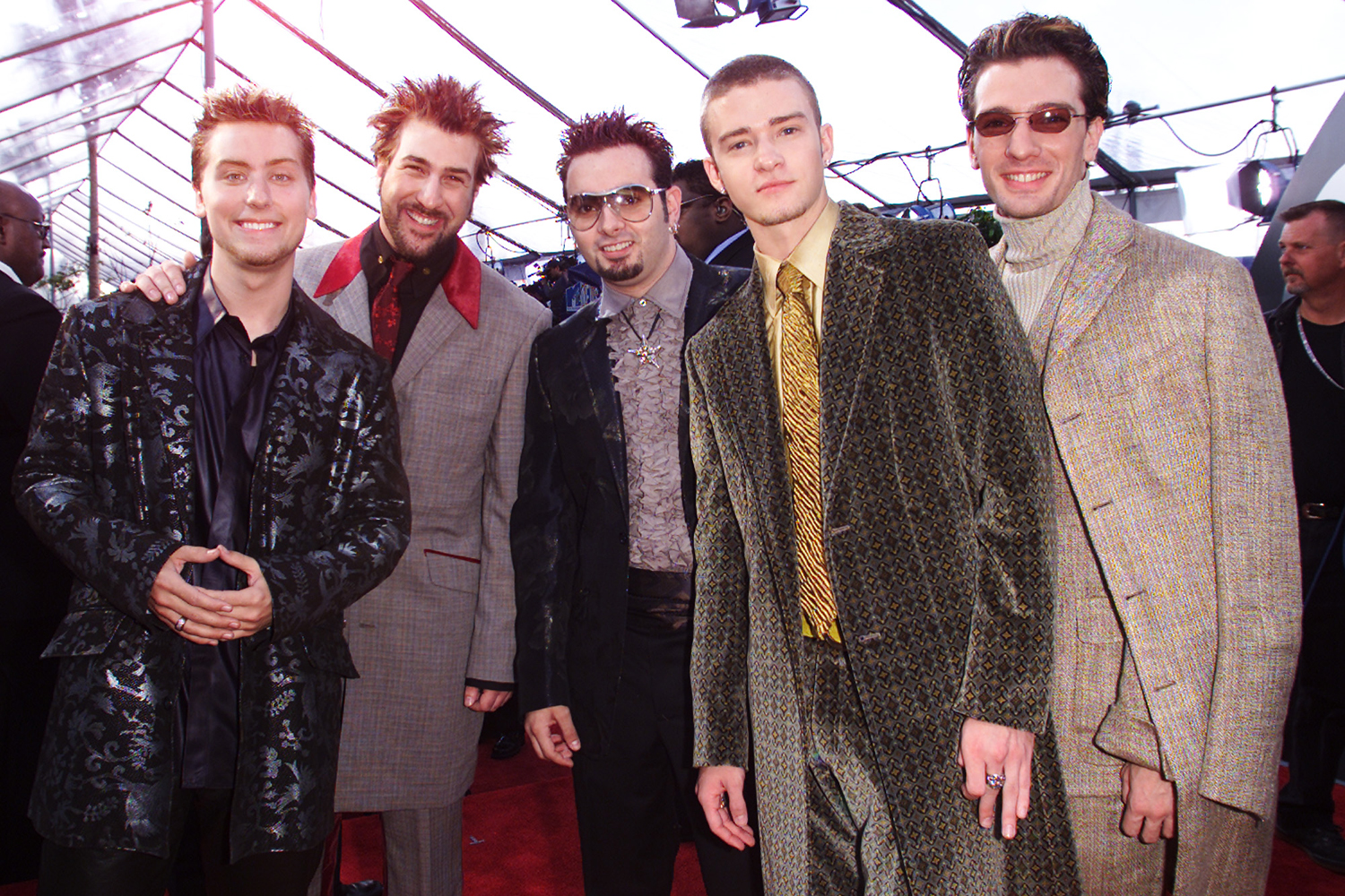 N'Sync arrive at the 43rd Annual Grammy Awards