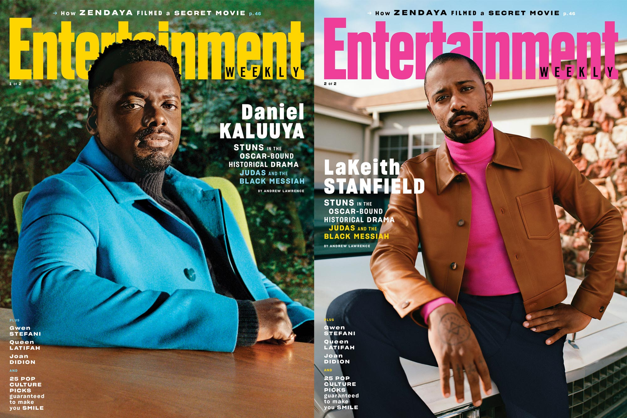 February 2021 cover Daniel Kaluuya; LaKeith Stanfield
