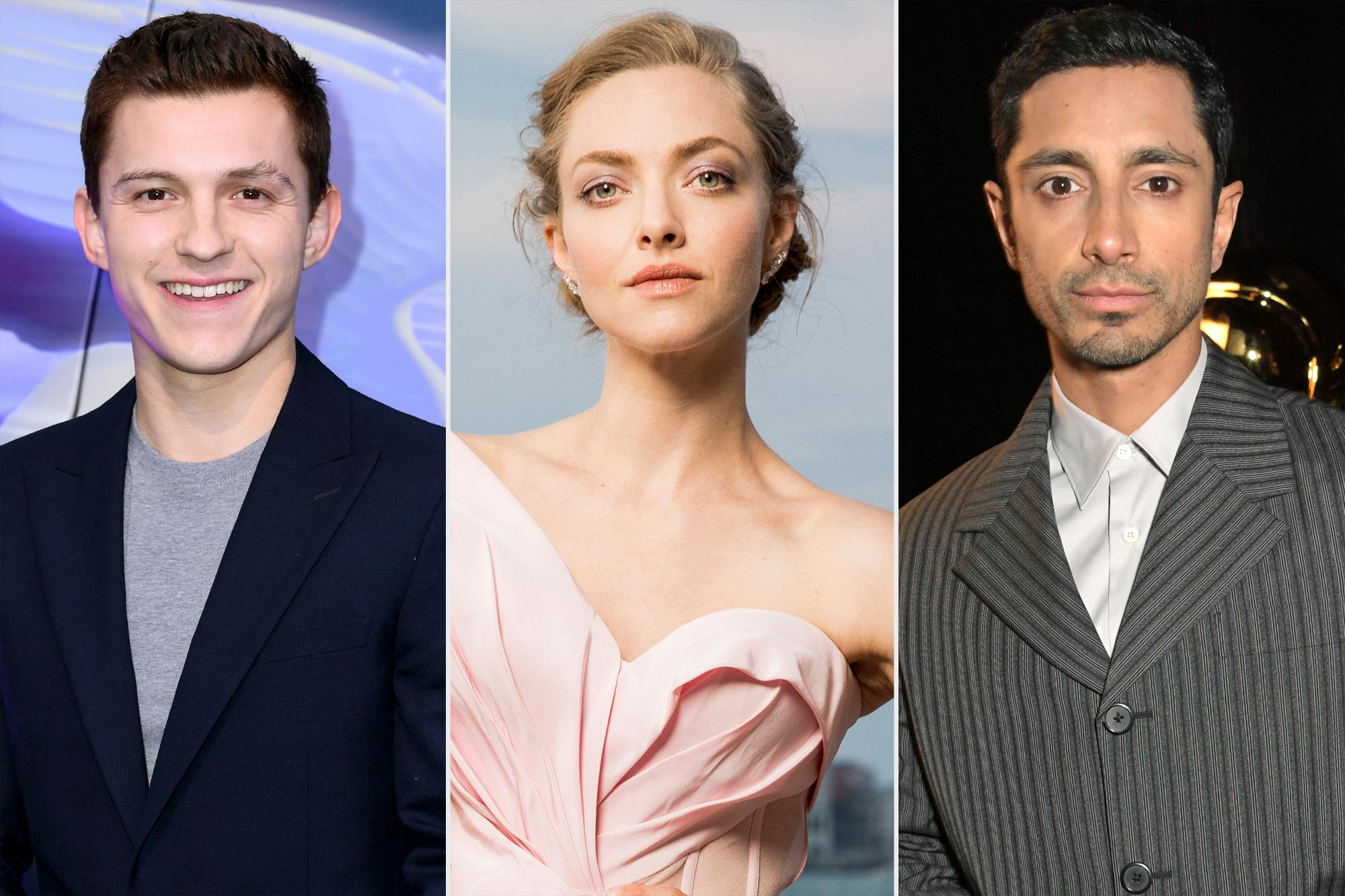 Tom Holland, Amanda Seyfried, and Riz Ahmed