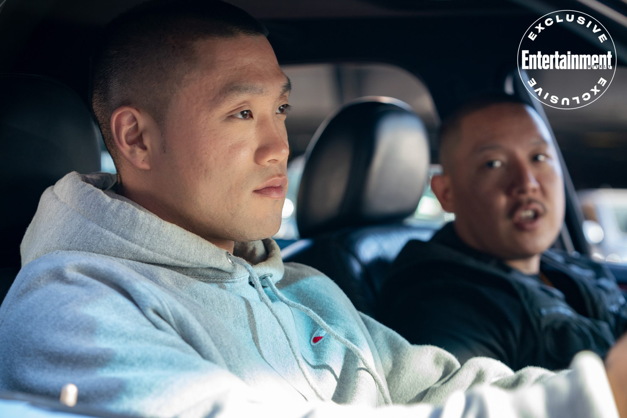 Taylor Takahashi stars as Alfred 'Boogie' Chin and writer/director Eddie Huang as Jackie in BOOGIE