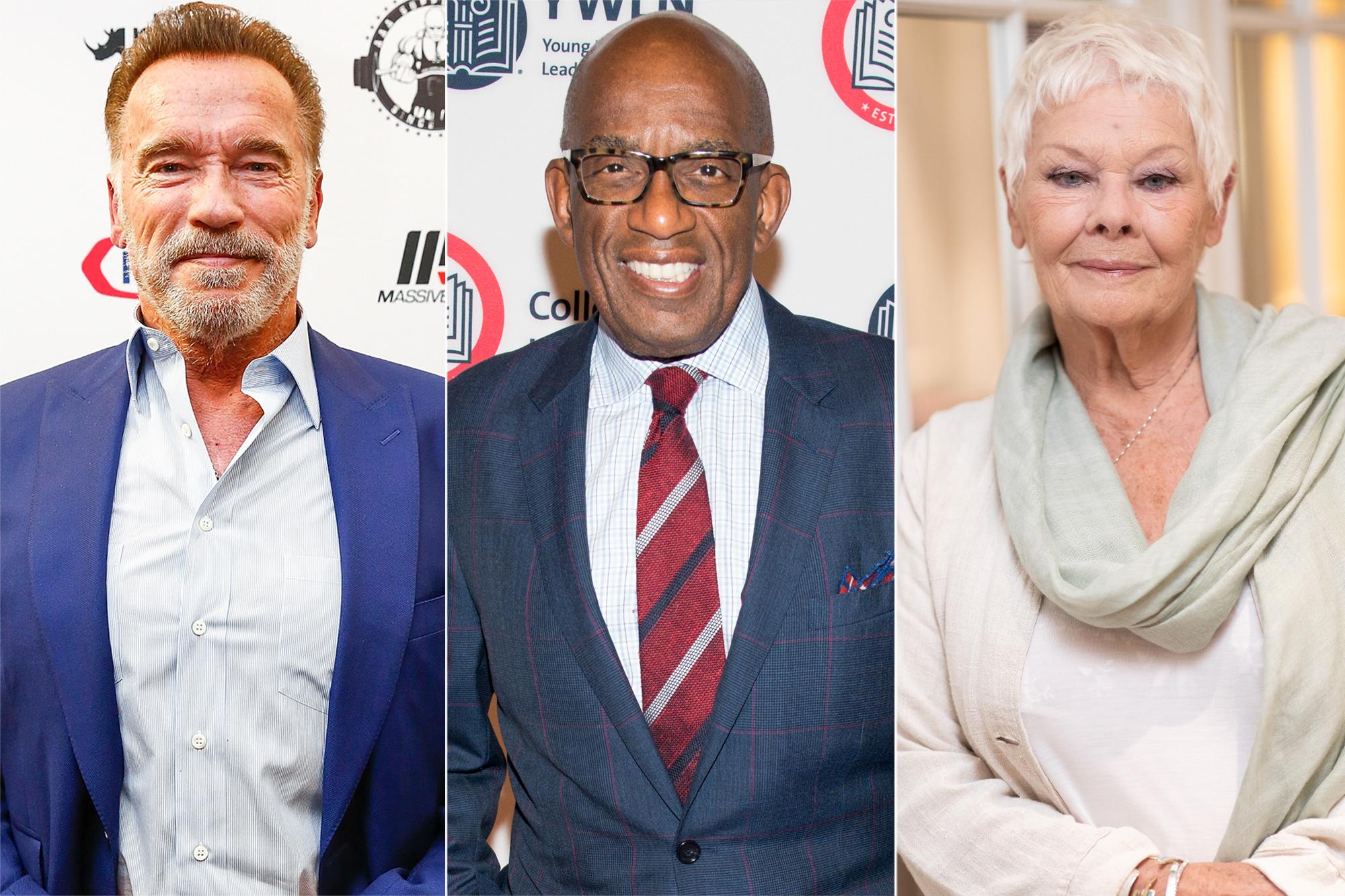 Arnold Schwarzenegger, Al Roker, Judi Dench.jpg