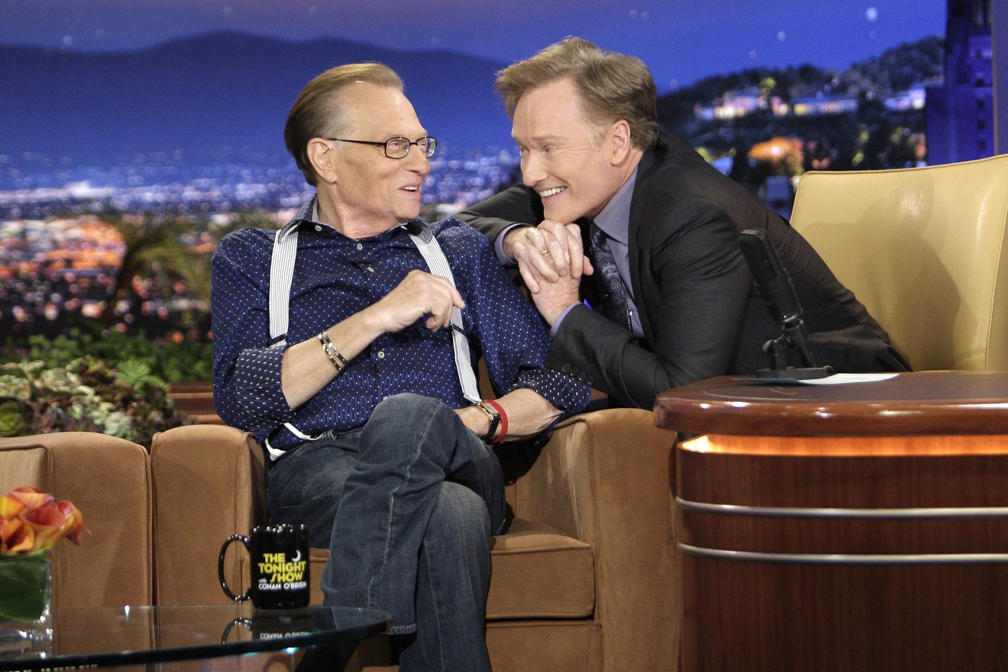 Larry King and Conan O'Brien