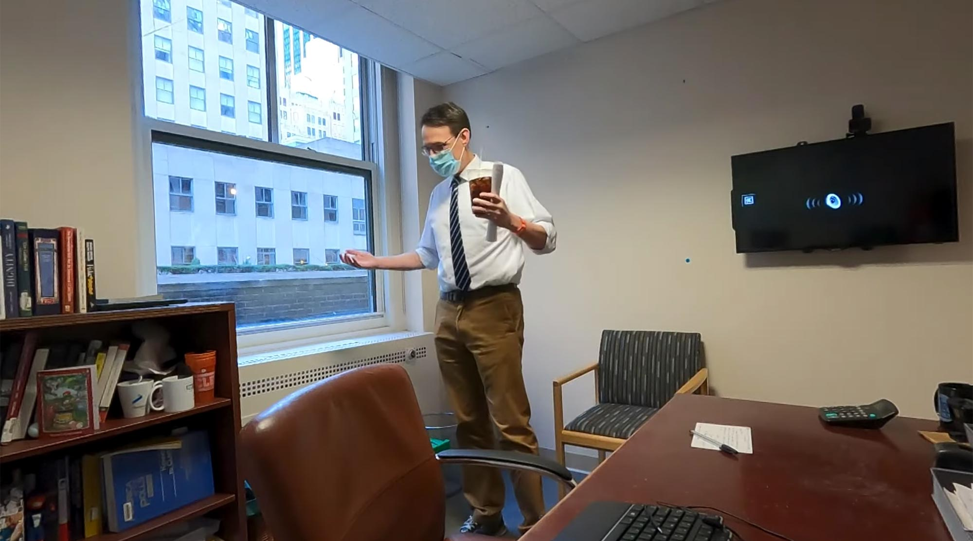 Jimmy Fallon Surprises Steve Kornacki by Cleaning His Office