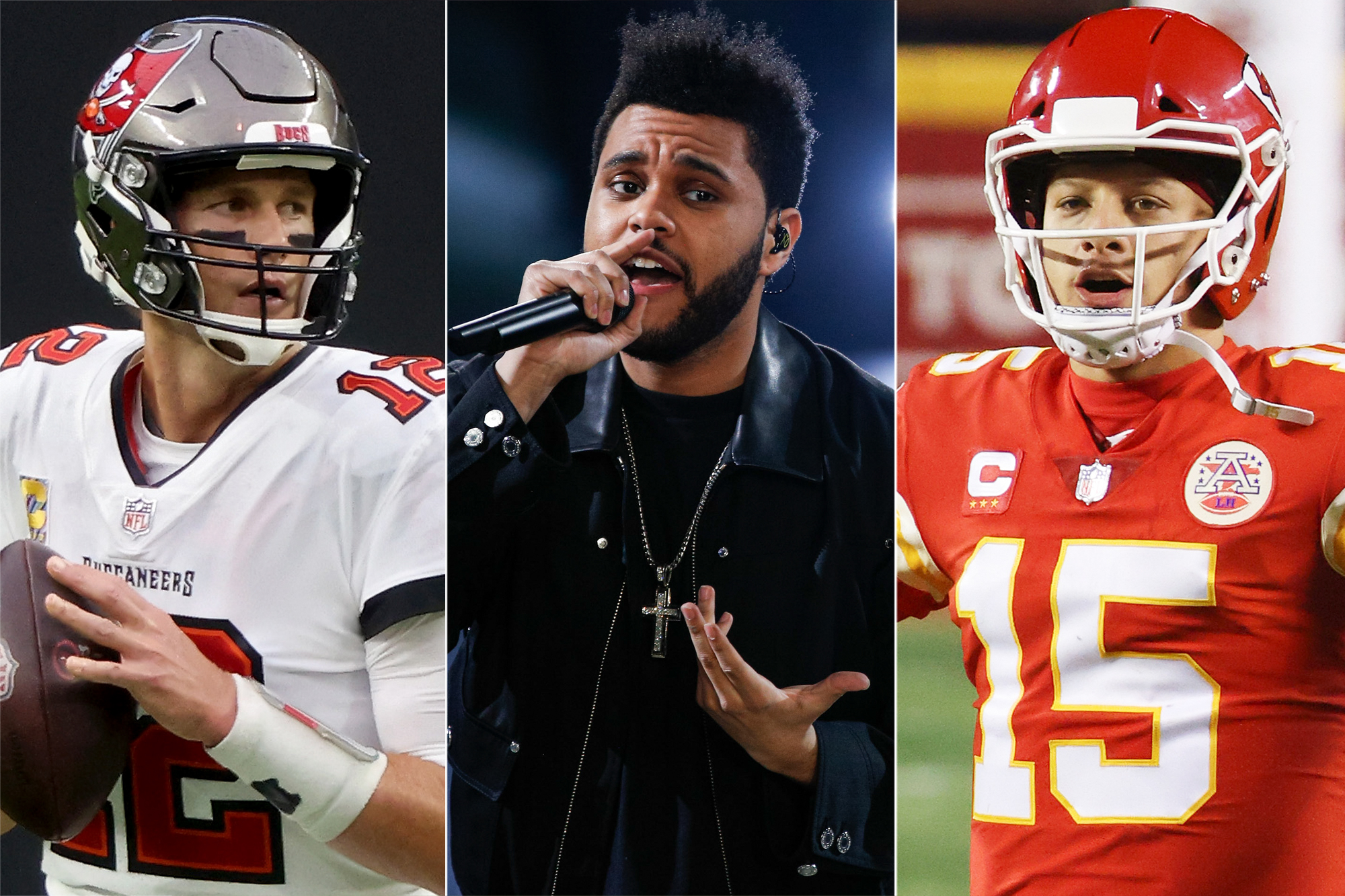 Tom Brady, The Weeknd, Patrick Mahomes