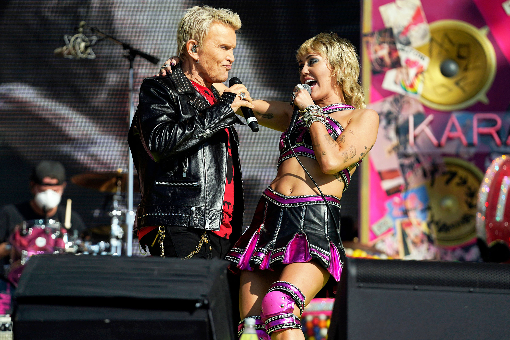 Miley Cyrus and Billy Idol