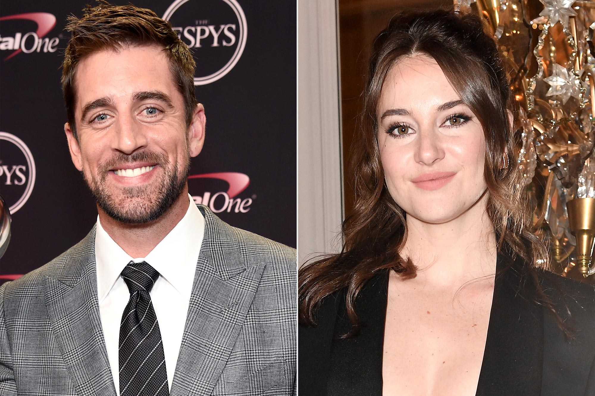 Aaron Rodgers and Shailene Woodley