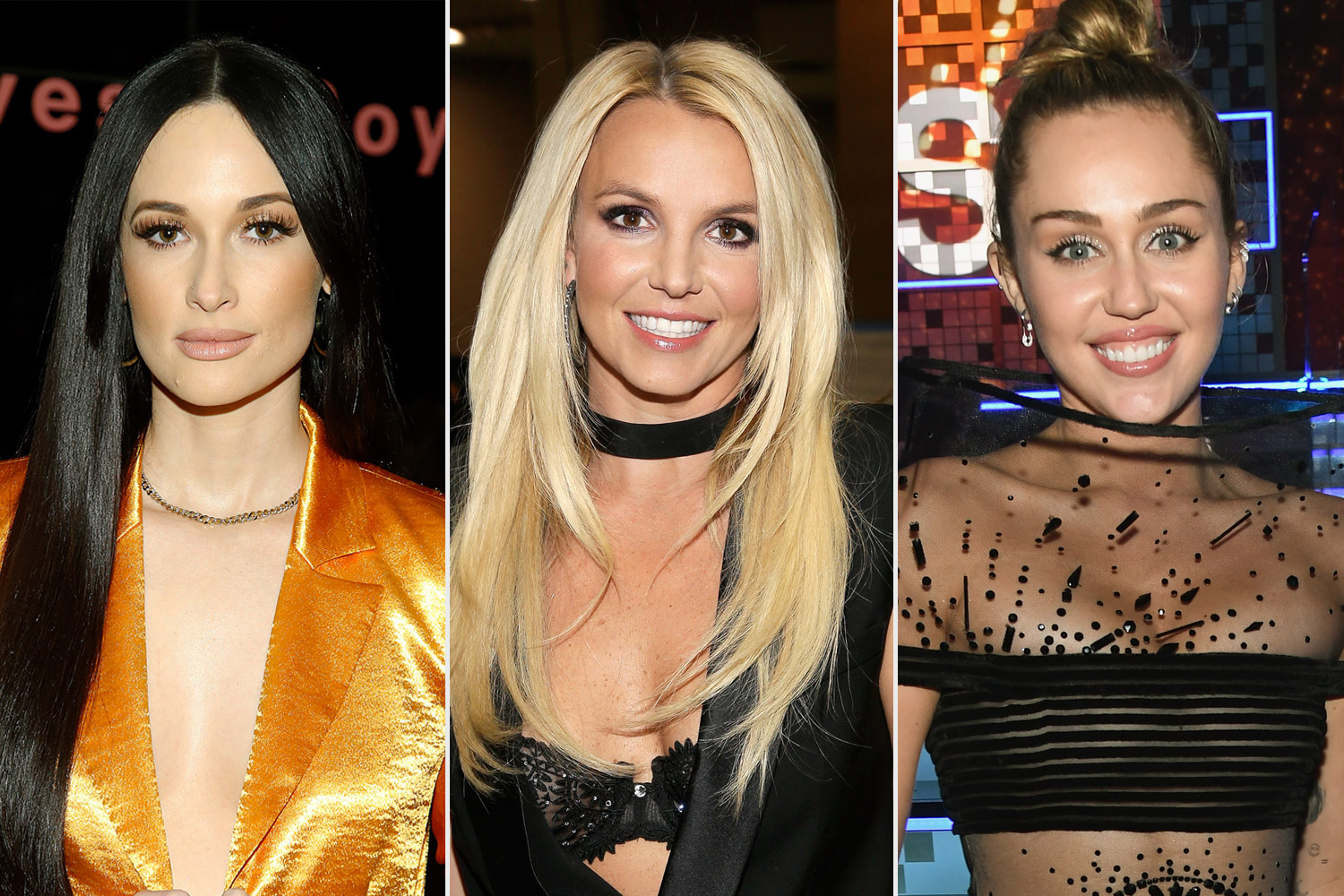 Kacey Musgraves, Britney Spears and Miley Cyrus
