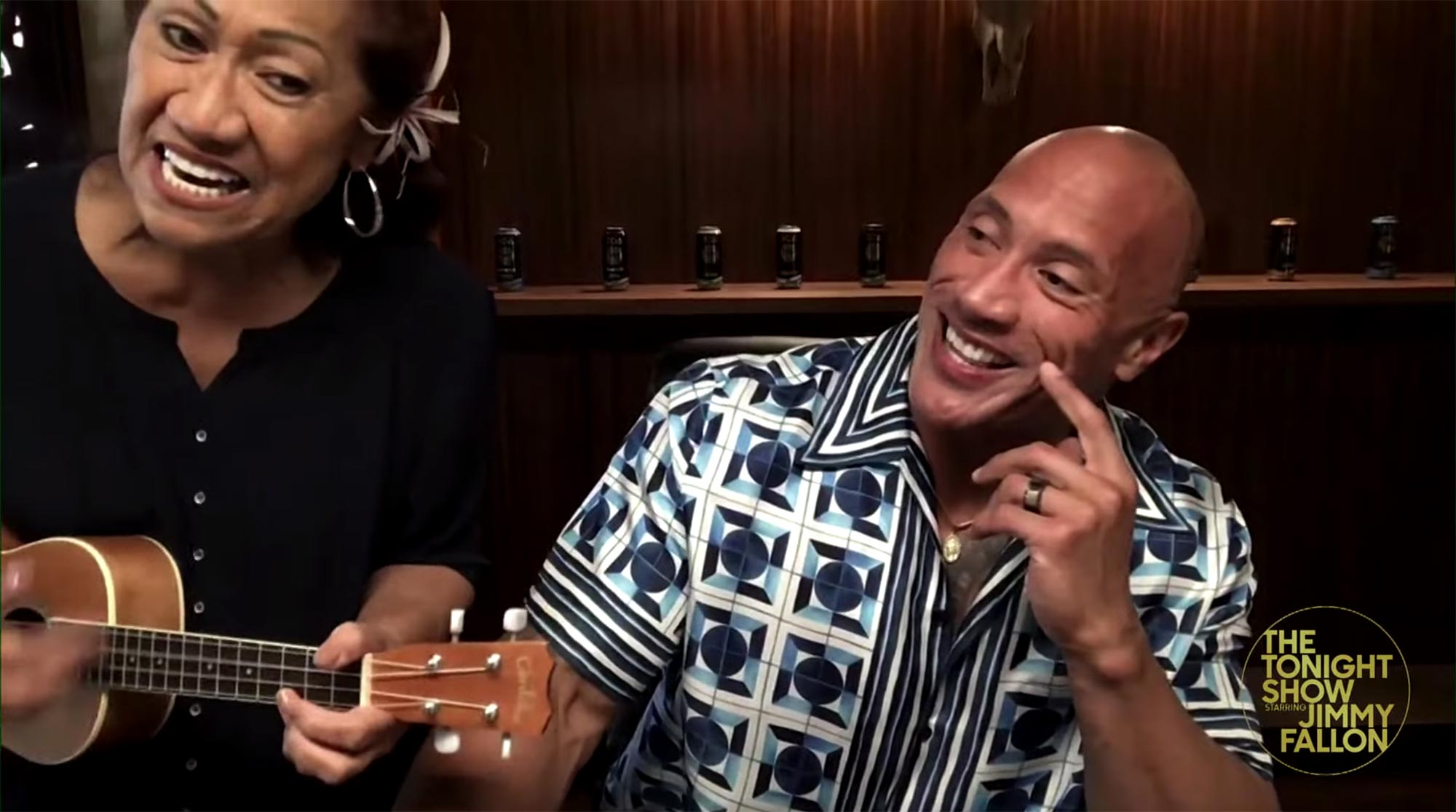 Dwayne Johnson's mom crashes Tonight Show interview
