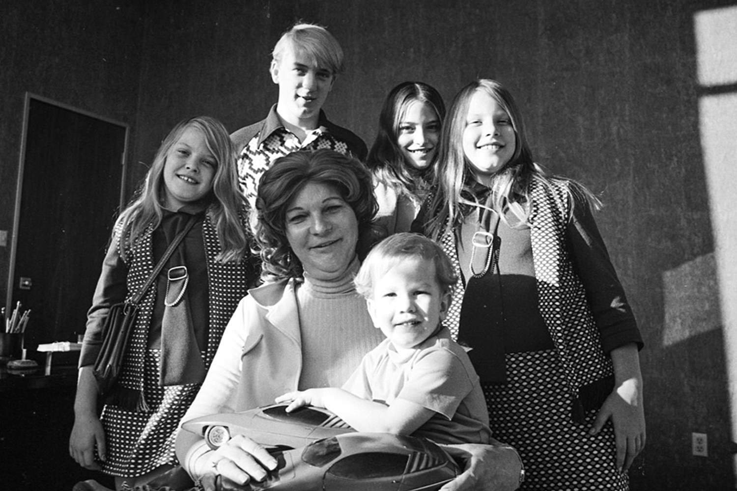 Elizabeth Carmichael with her family