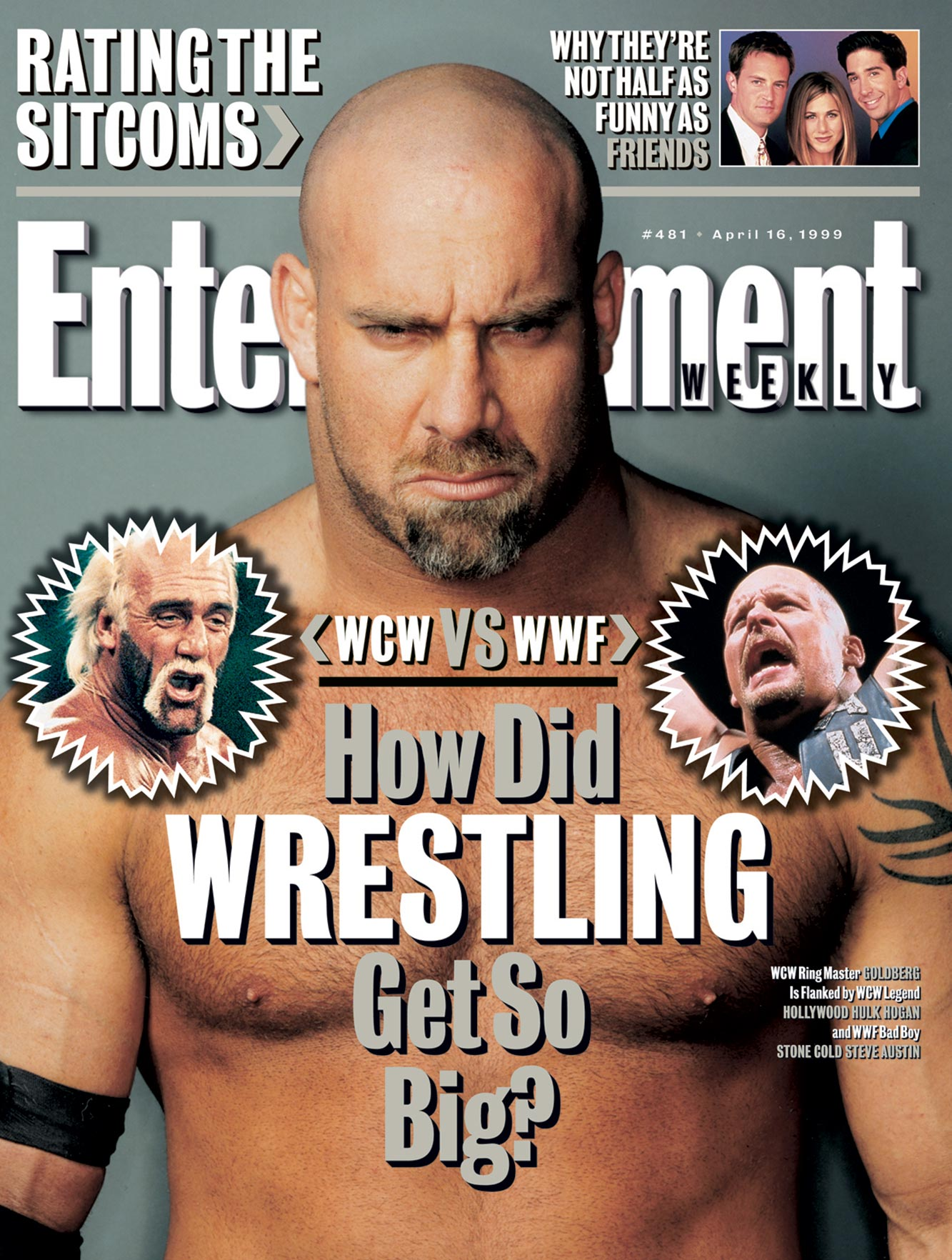 Entertainment Weekly Cover Wrestling Issue #481