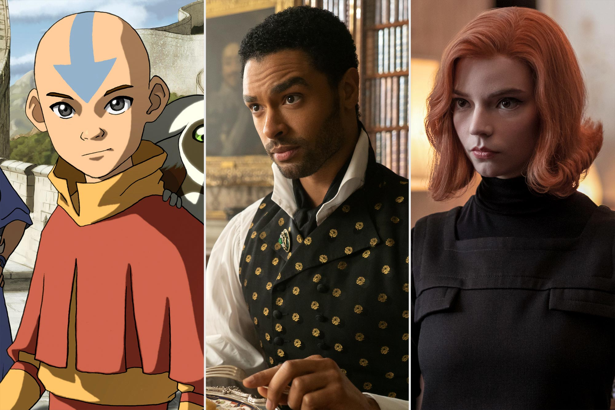 Best shows on Netflix- Avatar: The Last Airbender/Bridgerton/Queen's Gambit
