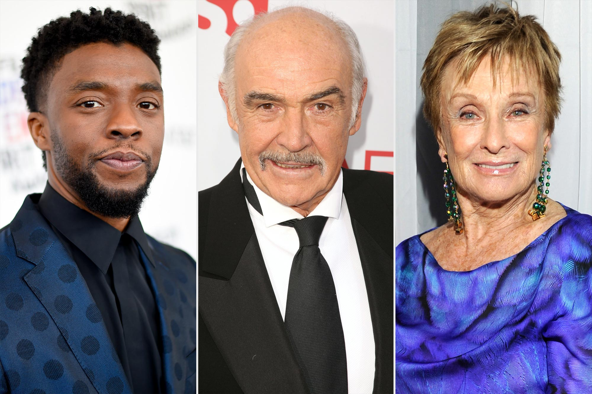 Chadwick Boseman, Sean Connery, and Cloris Leachman