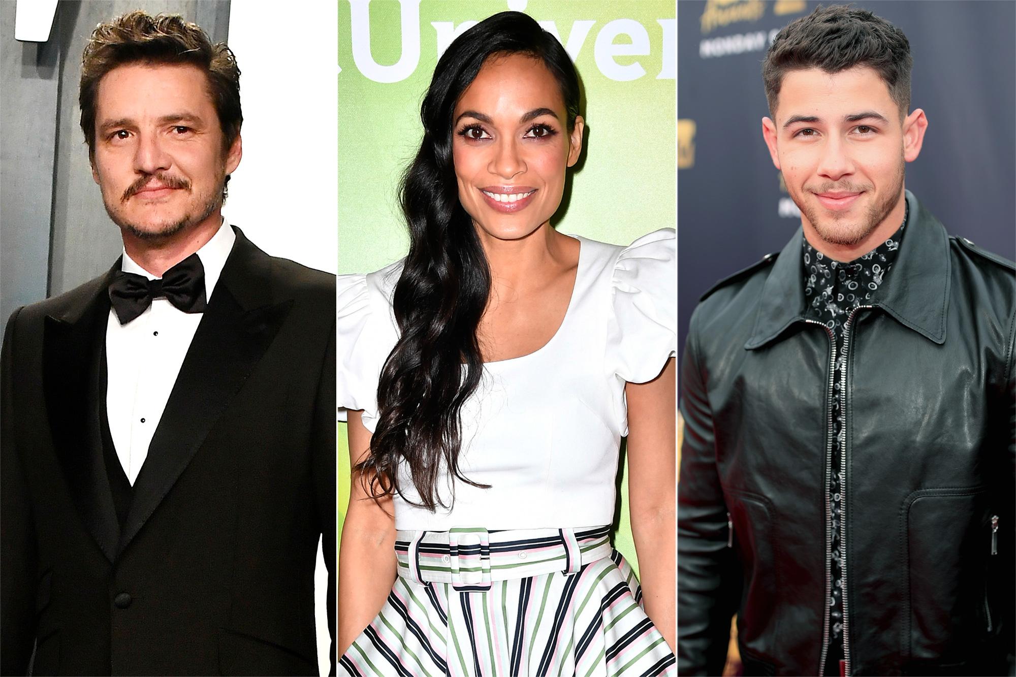Pedro Pascal, Rosario Dawson, and Nick Jonas