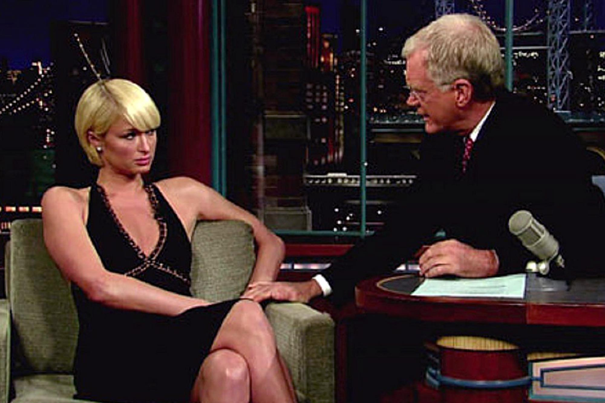 Paris Hilton on the Late Show with David Letterman in 2007