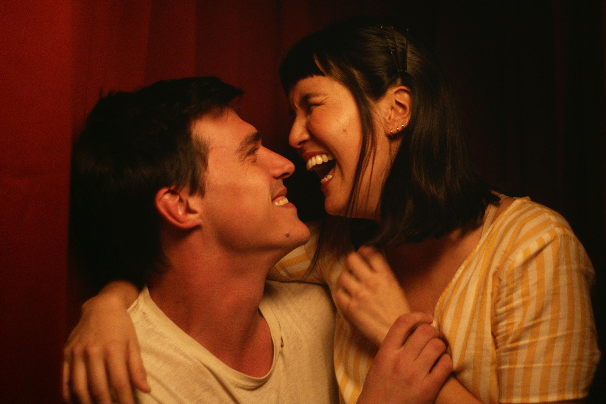 "Finn Wittrock and Zoë Chao in ""The Long Weekend."""
