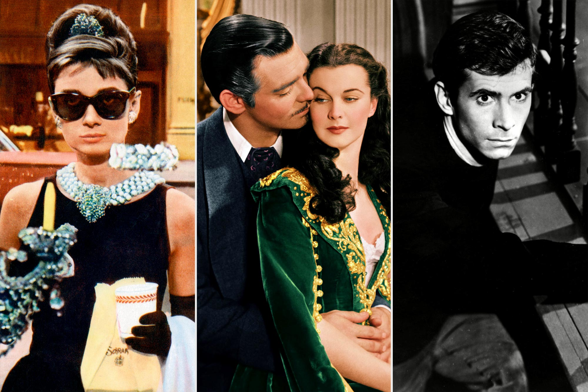Breakfast at Tiffany's; Gone with the Wind; Psycho