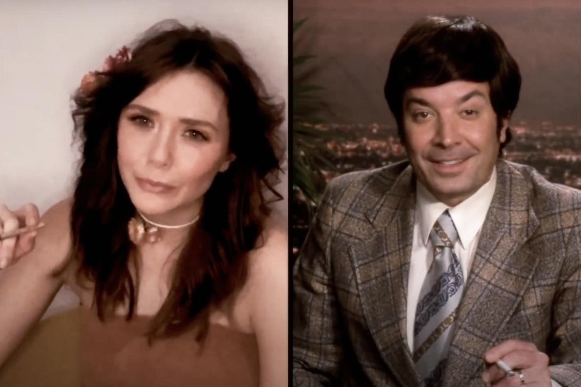 FallonVision with Elizabeth Olsen (WandaVision Parody) | The Tonight Show