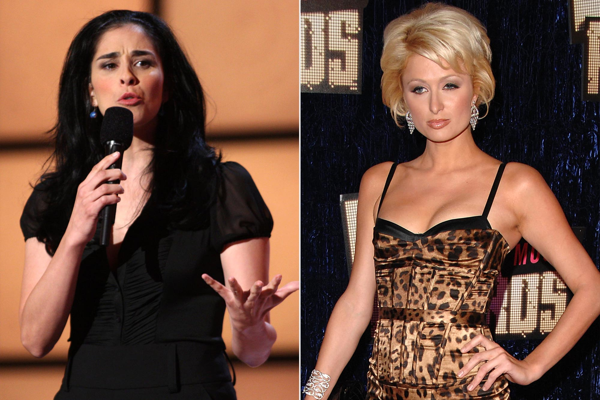 Sarah Silverman and Paris Hilton at the 2007 Video Music Awards