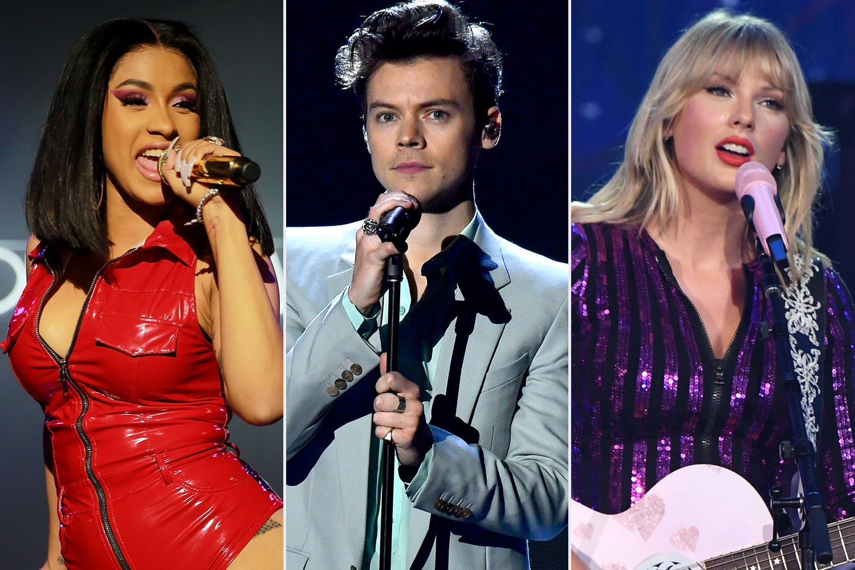 Cardi B, Harry Styles, Taylor Swift