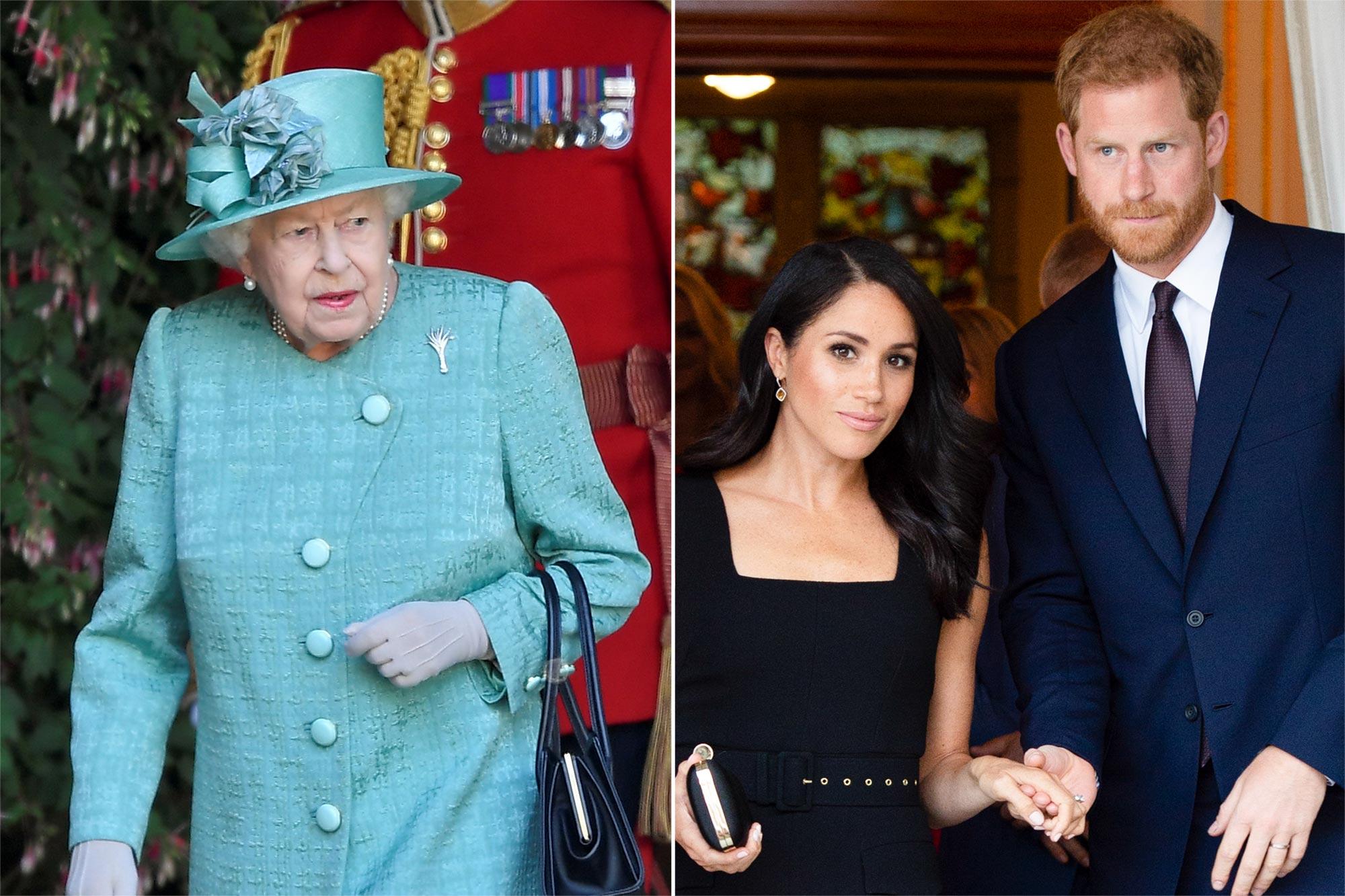 Queen Elizabeth II, Prince Harry and Meghan Markle