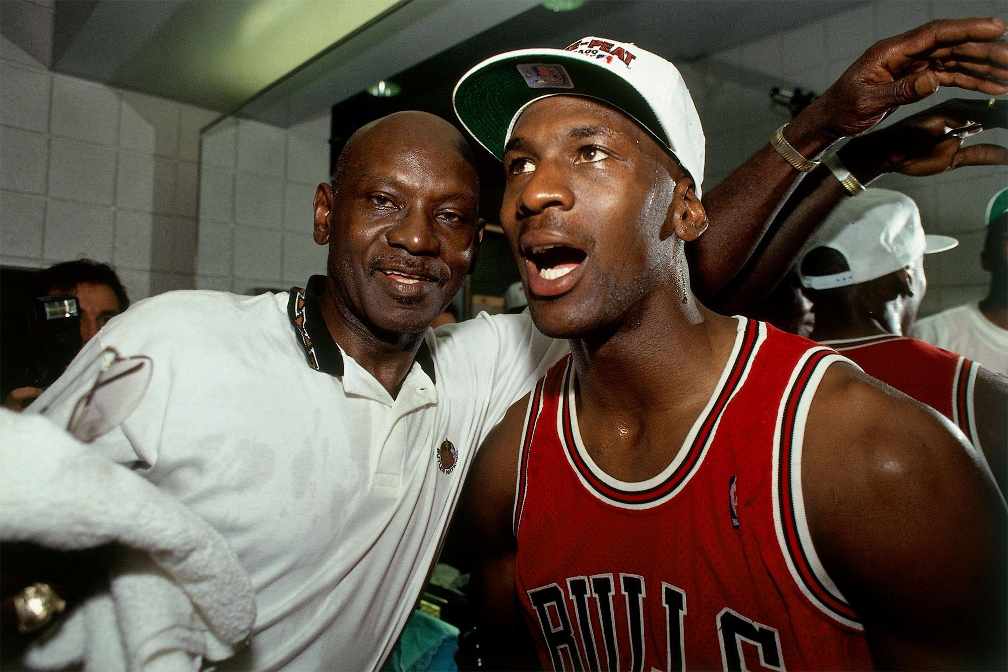 Michael Jordan and James Jordan Sr.