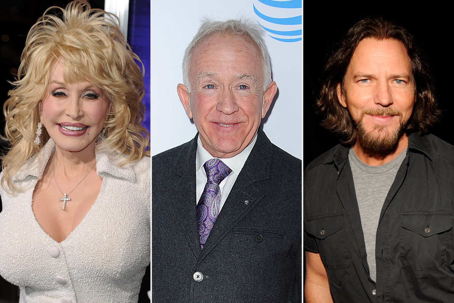 Leslie Jordan, Dolly Parton and Eddie Vedder