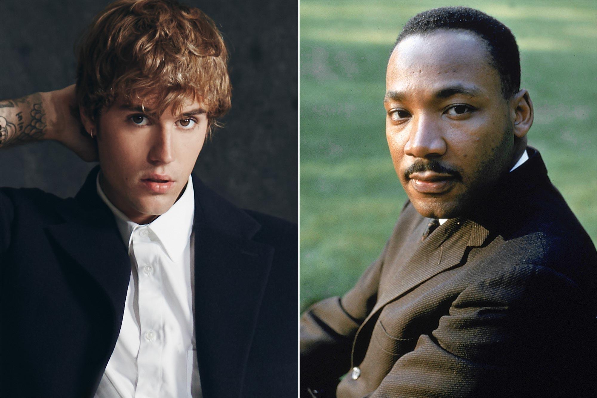 Justin Bieber, Martin Luther King Jr.