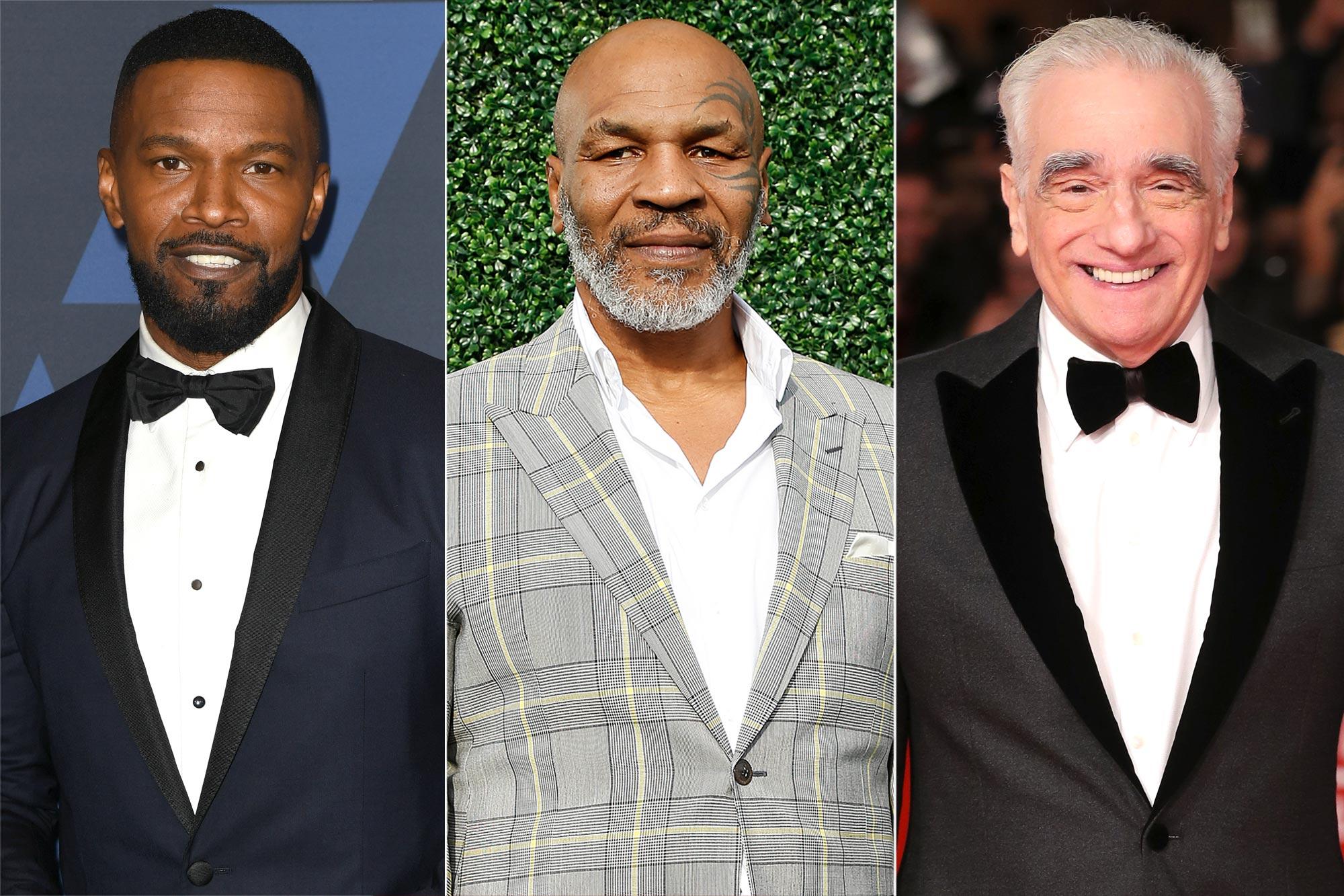 Jamie Foxx, Mike Tyson, Martin Scorsese