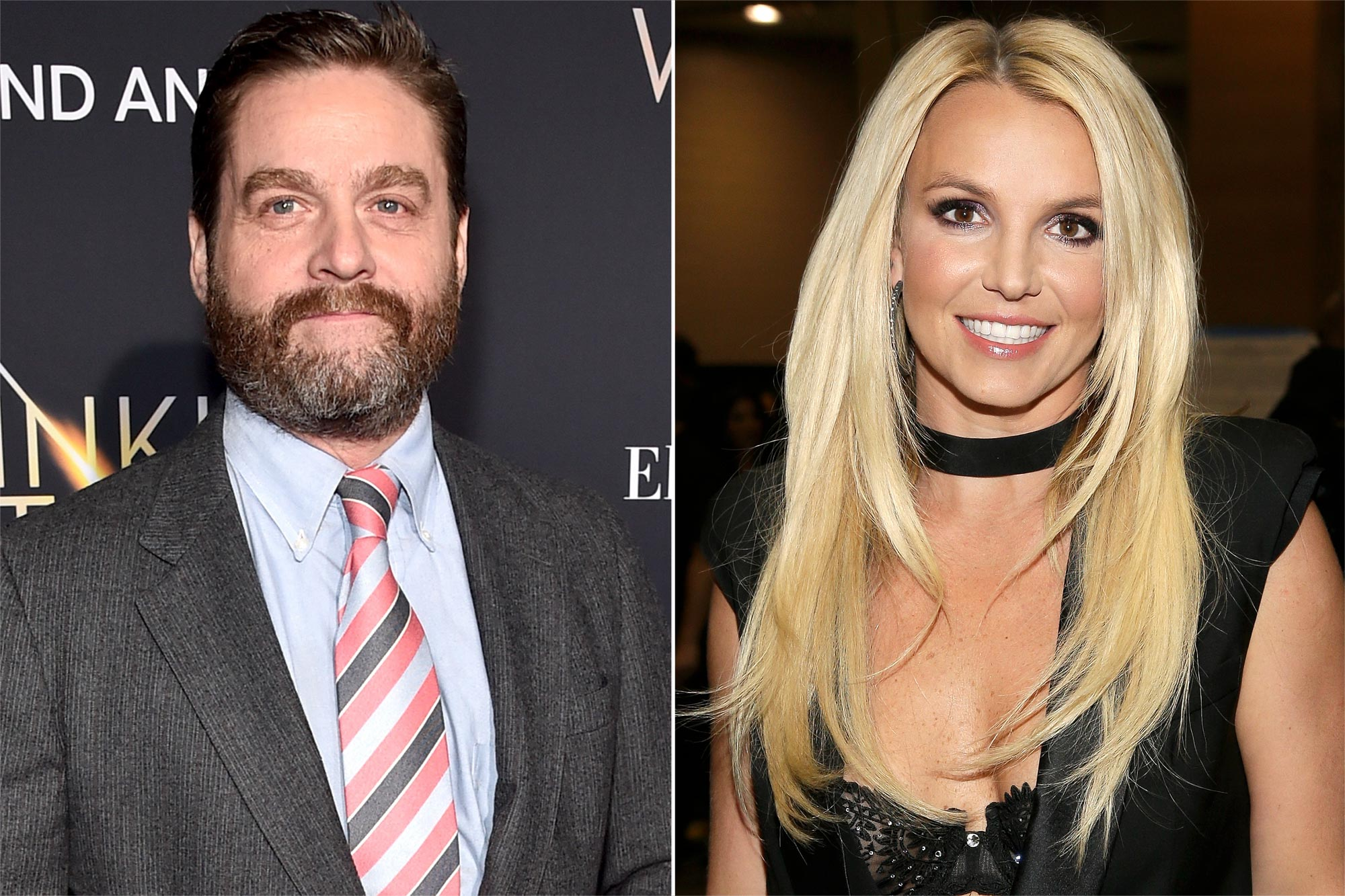 Zach Galifianakis, Britney Spears