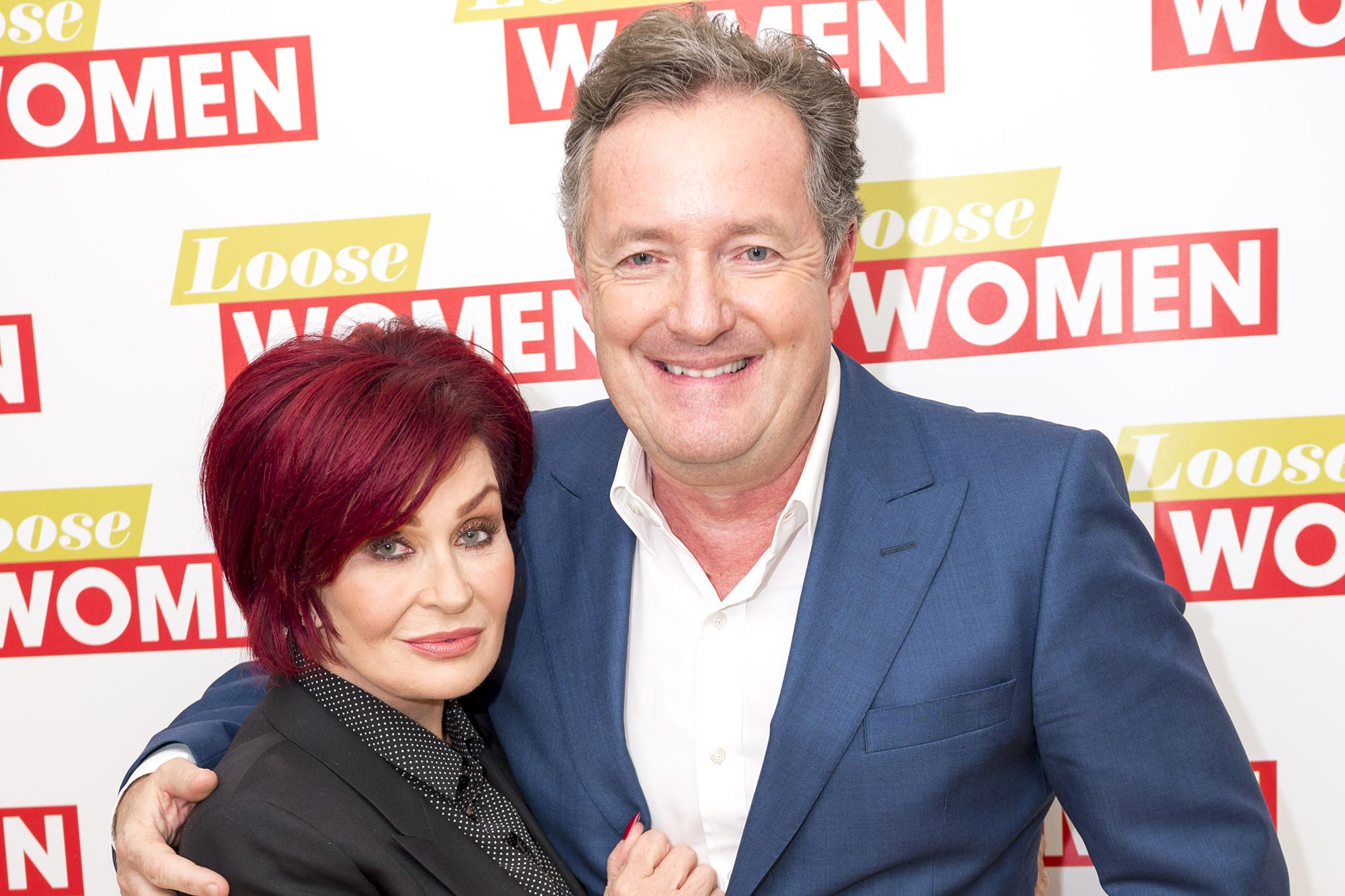 Sharon Osbourne and Piers Morgan
