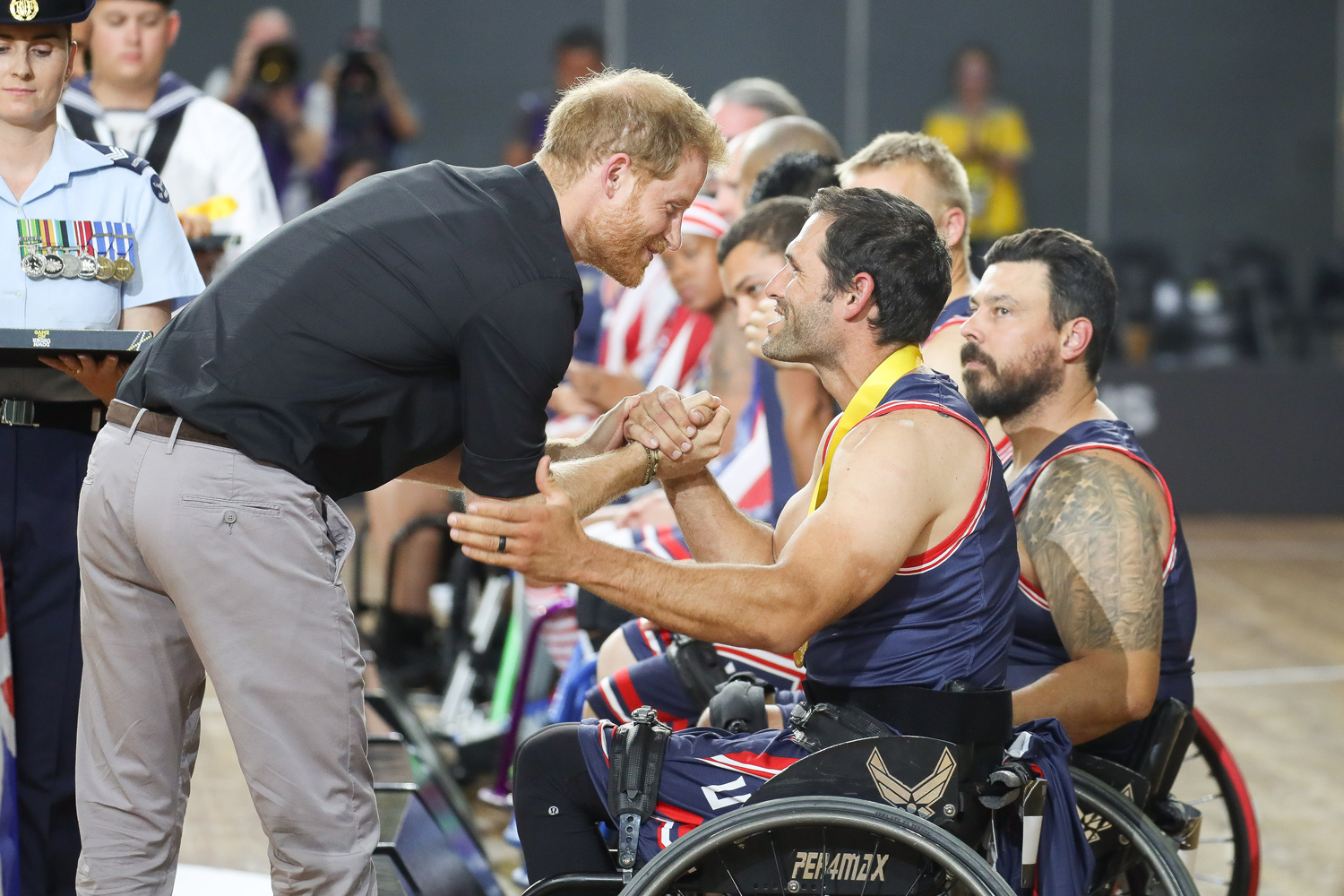 Prince Harry meeting with Invictus Games athletes