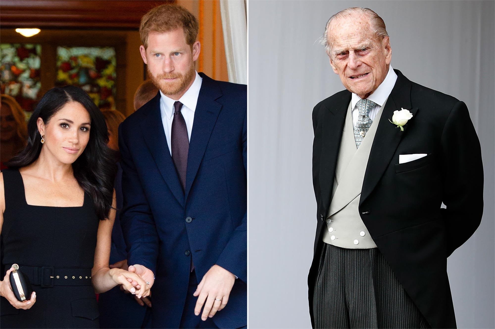 Meghan Markle, Prince Harry, Prince Philip