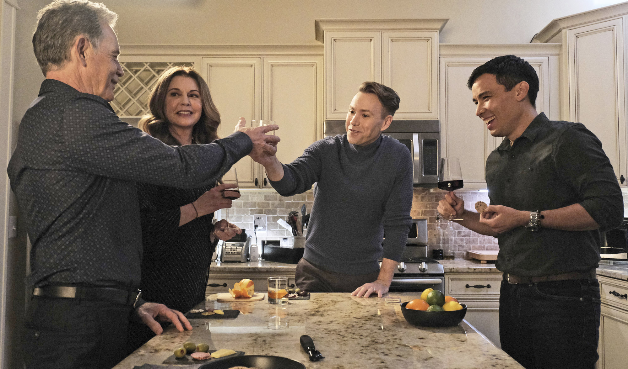 Bruce Greenwood, Jane Leeves, Christopher J. Hanke, and Conrad Ricamora on 'The Resident'