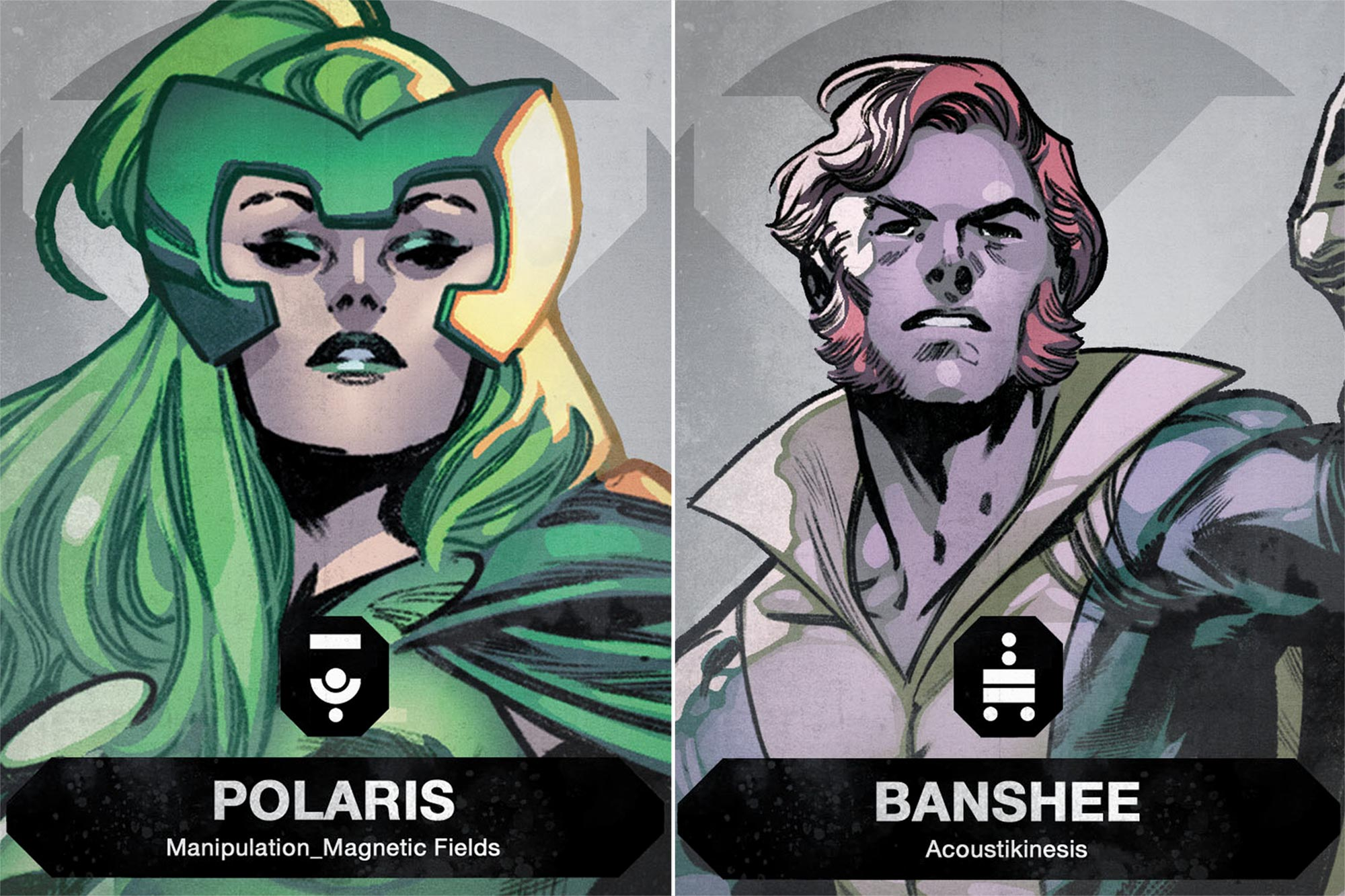 X-Men Vote cards