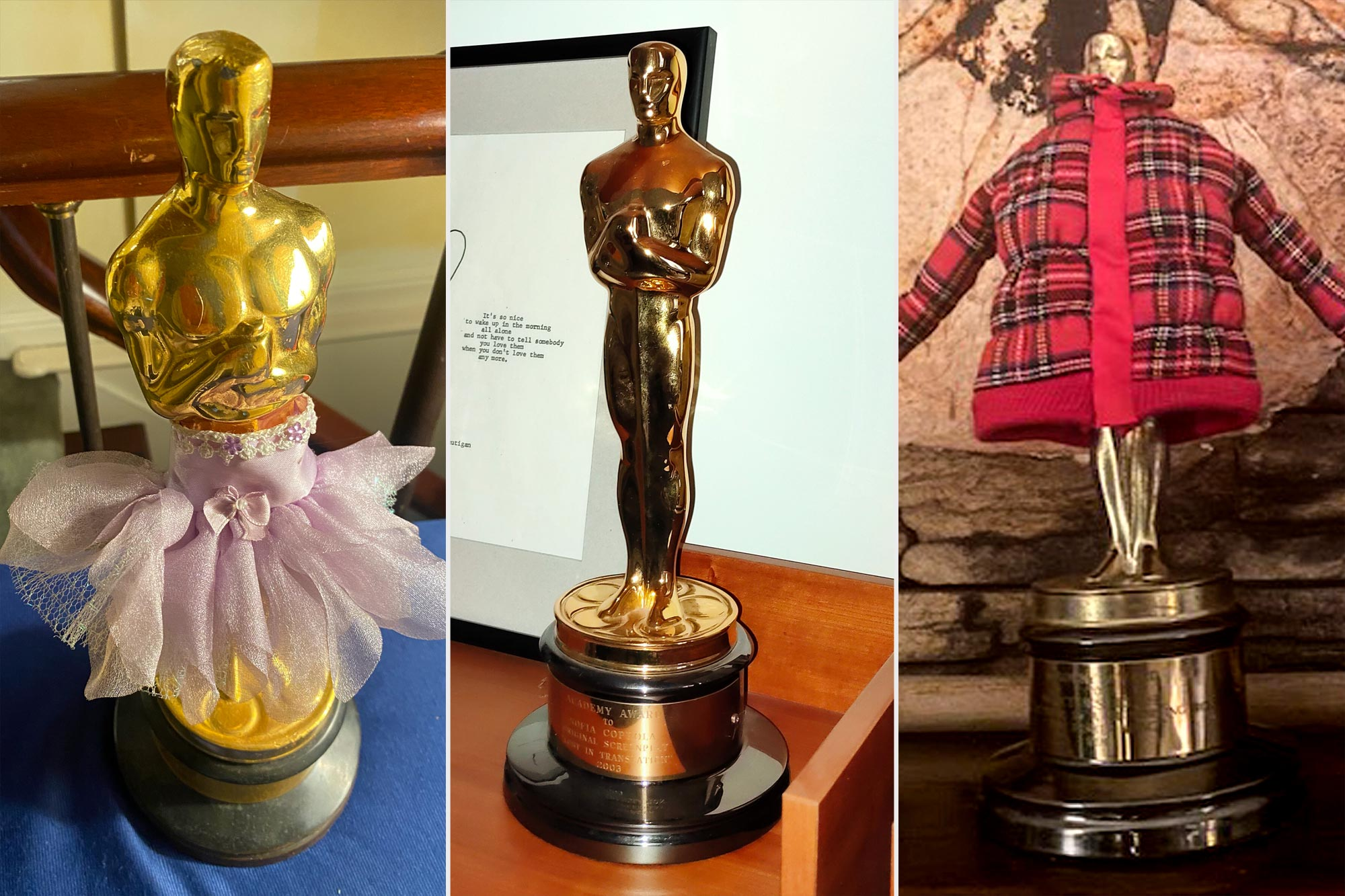 Where Oscar winners keep their statues