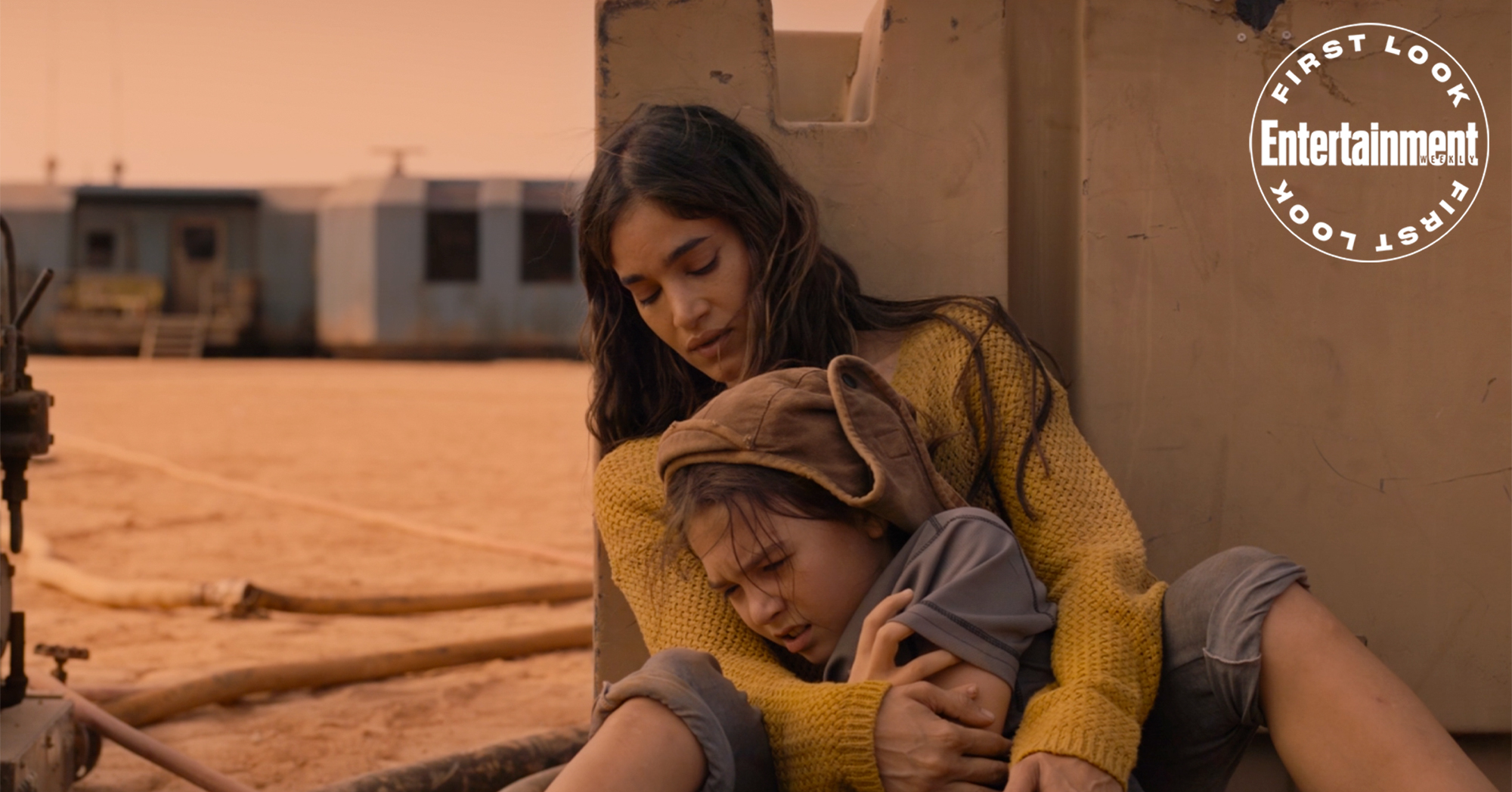 Sofia Boutella and Brooklynn Prince in 'Settlers'
