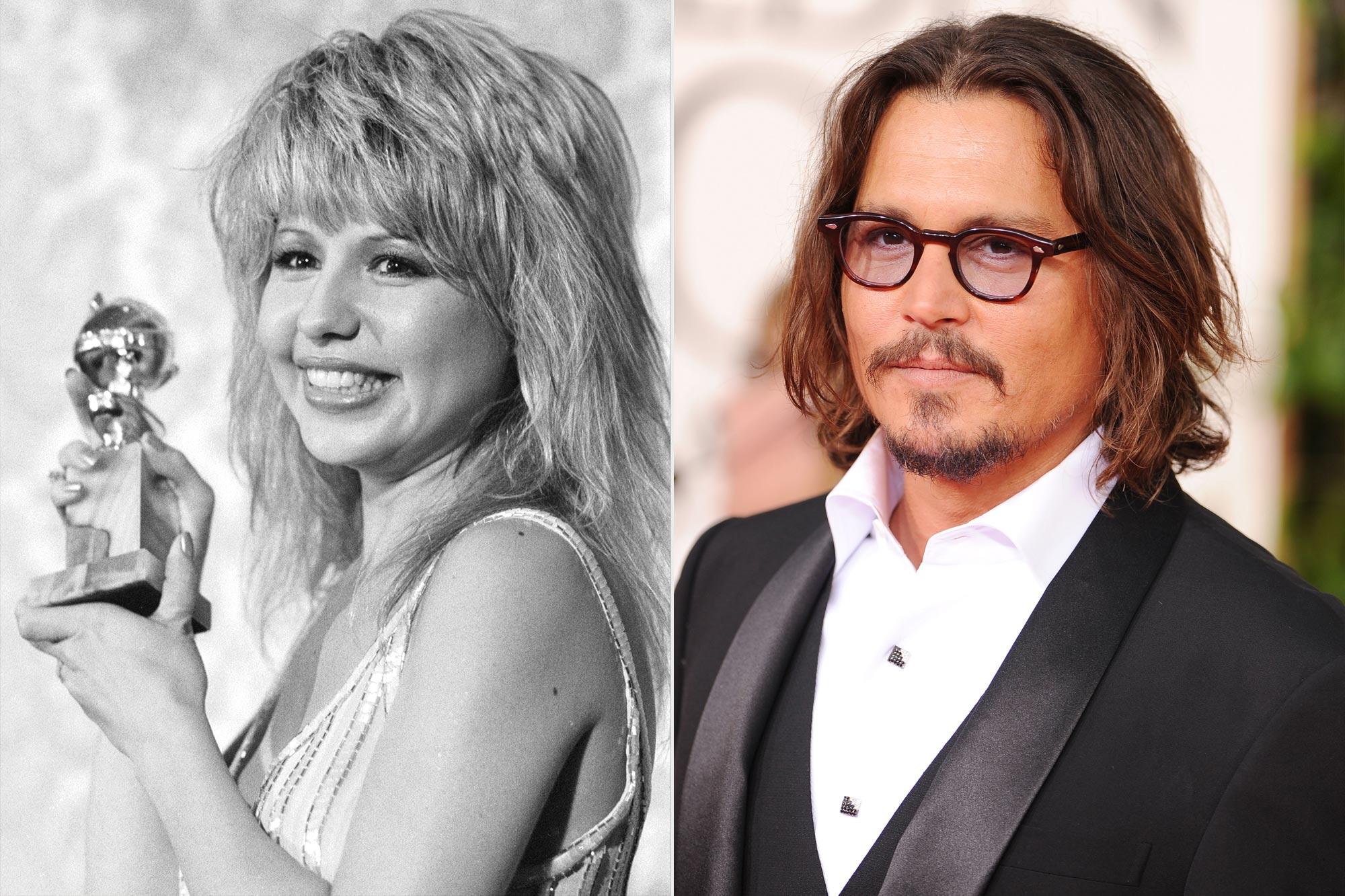 Pia Zadora and Johnny Depp