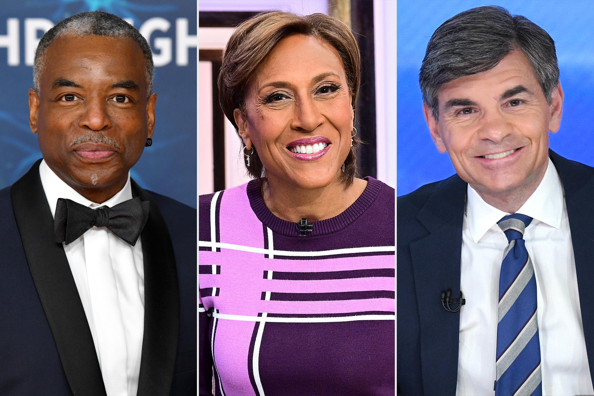 LeVar Burton, Robin Roberts, and George Stephanopoulos
