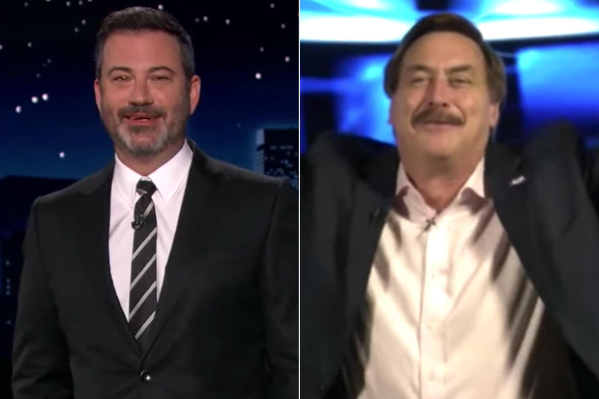 Jimmy Kimmel and Mike Lindell
