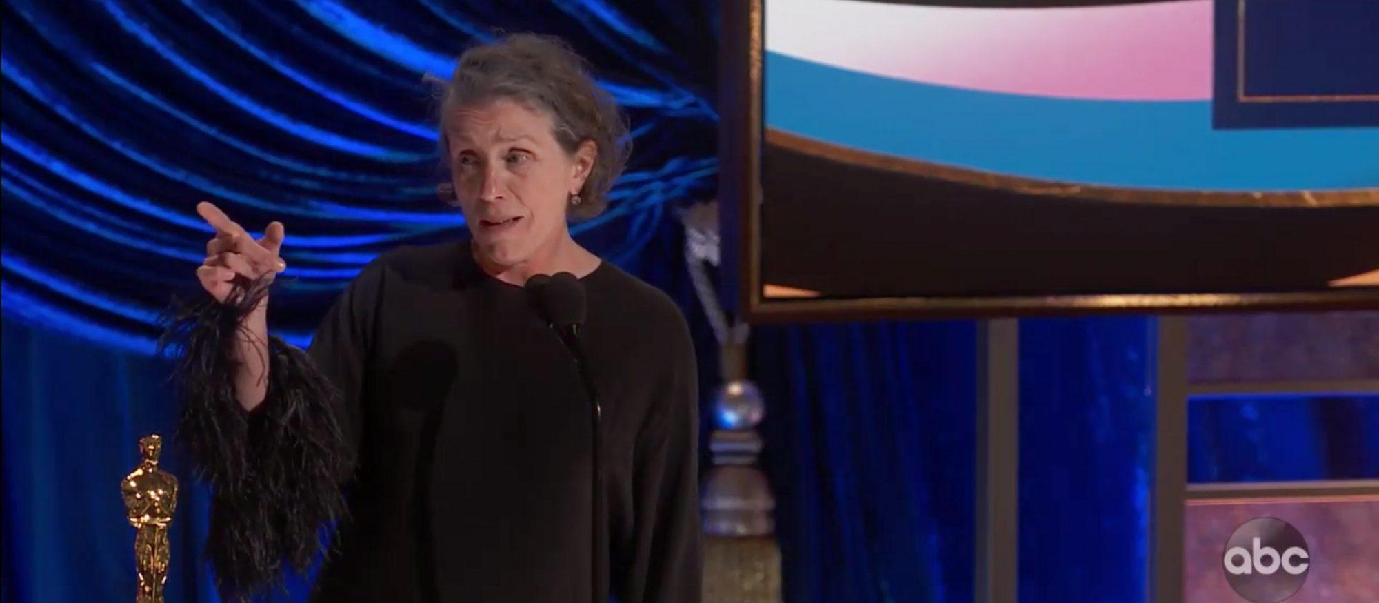 Frances McDormand wins Best Actress