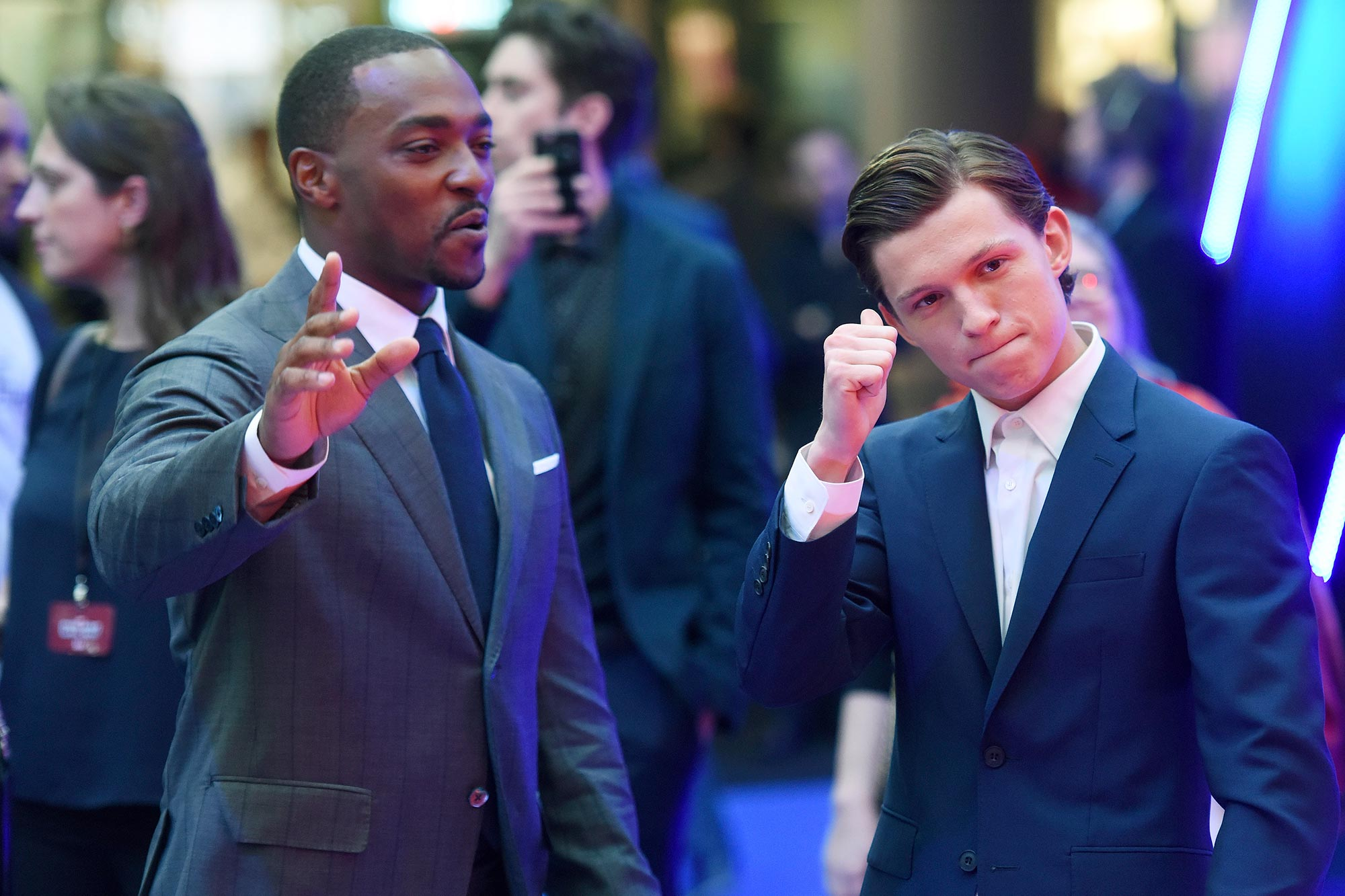 Anthony Mackie and Tom Holland