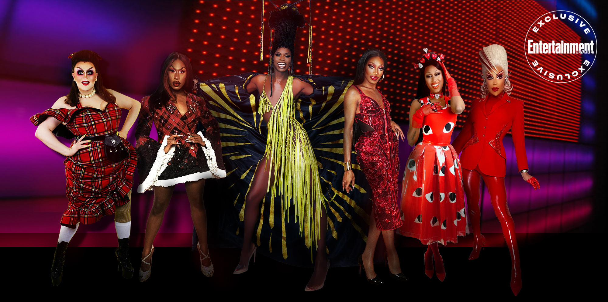 'RuPaul's Drag Race' winners Lawrence Chaney, Shea Coulee, Symone, Jaida Essence Hall, Priyanka, and Envy Peru unite for EW's LGBTQ+ Pride issue interview.