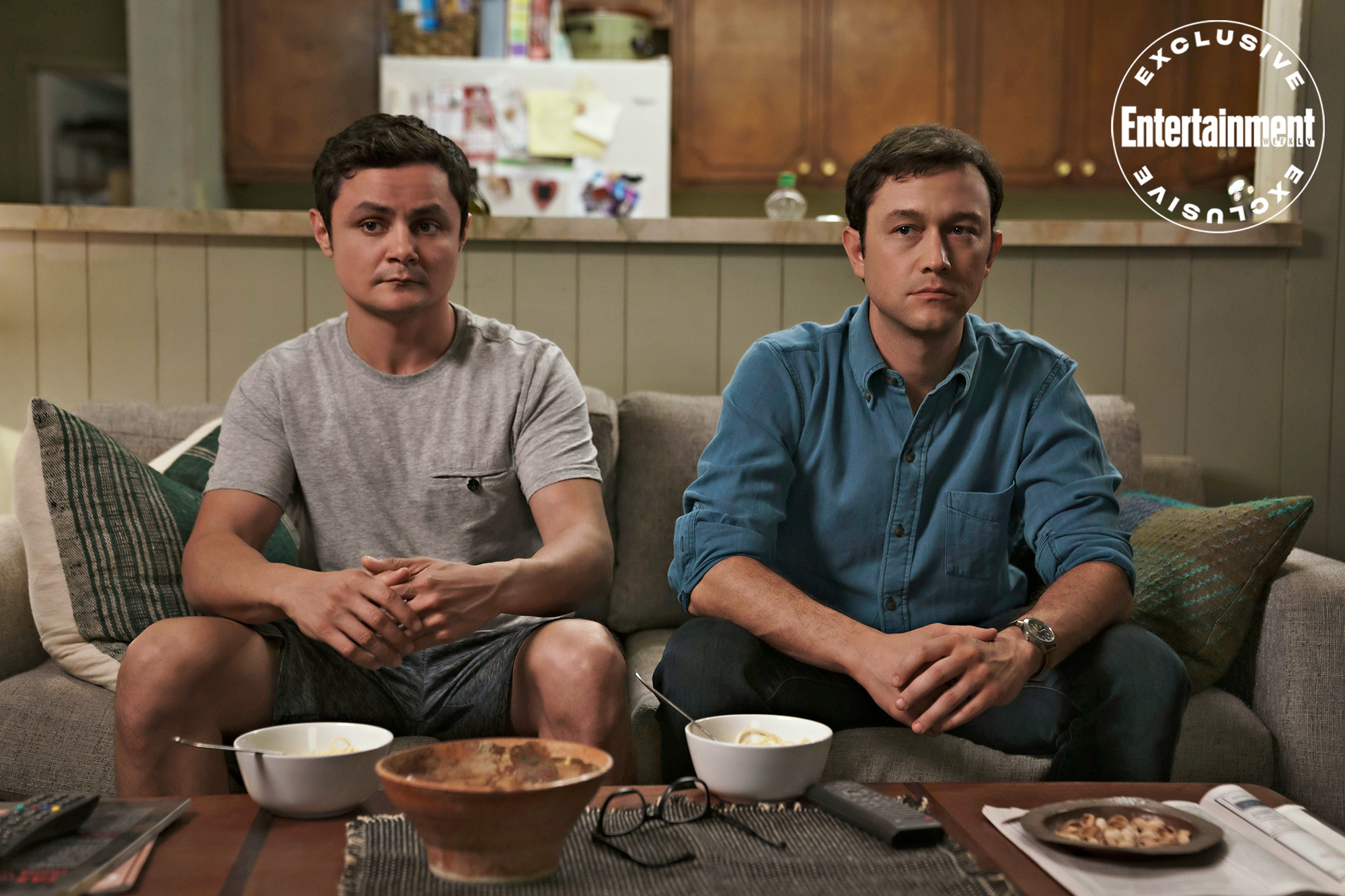 Arturo Castro and Joseph Gordon-Levitt in 'Mr. Corman.'
