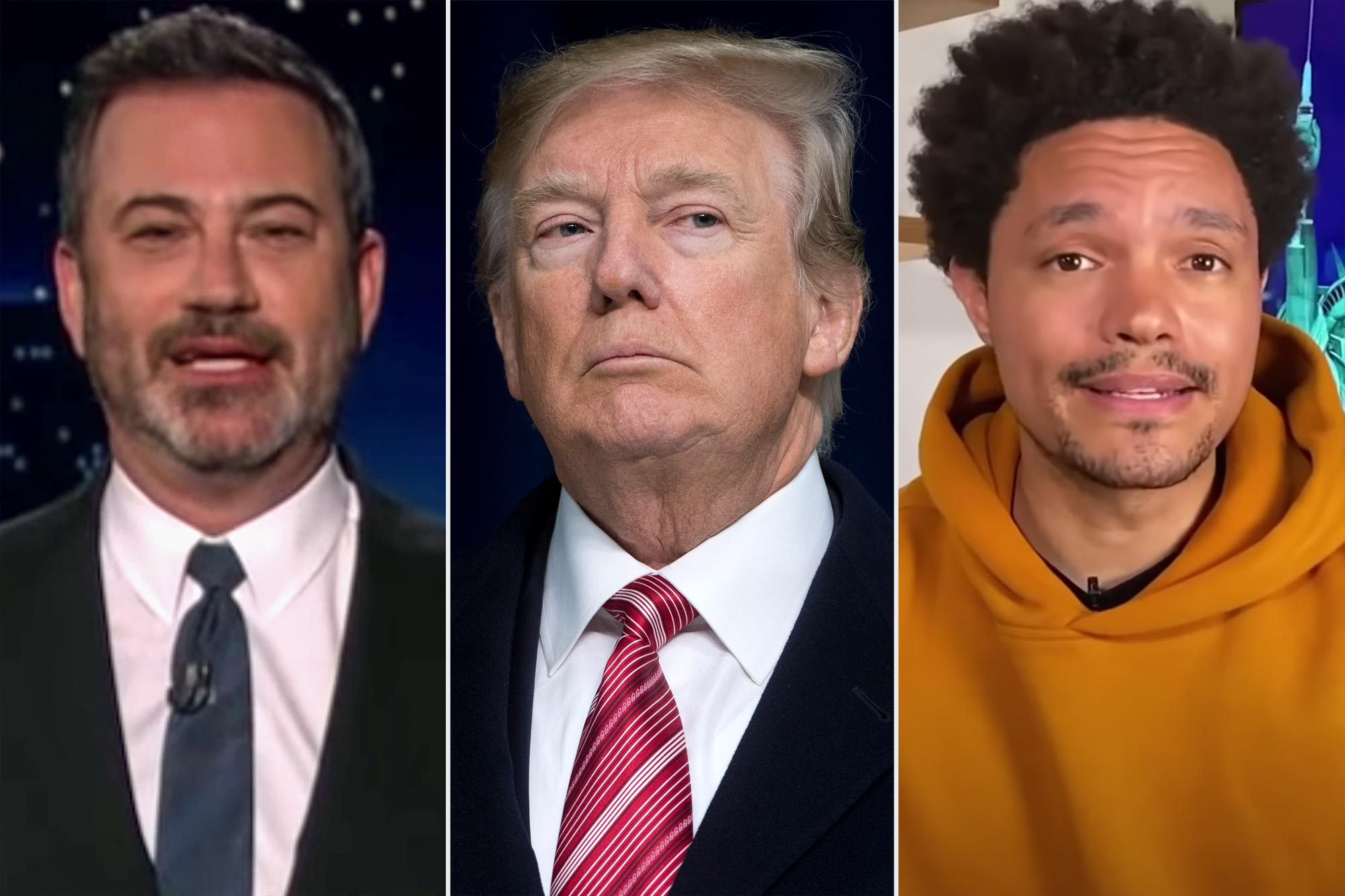 Jimmy Kimmel Live; Donald Trump; Daily Show with Trevor Noah