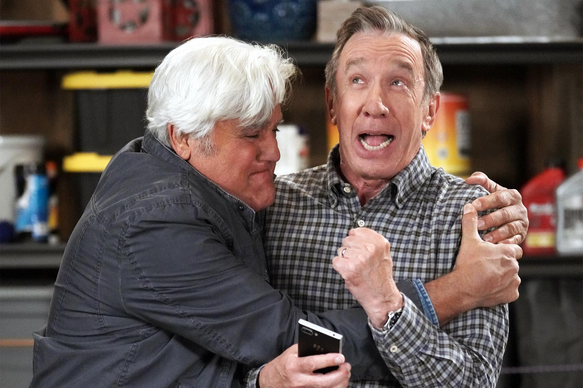 Jay Leno and Tim Allen on 'Last Man Standing'