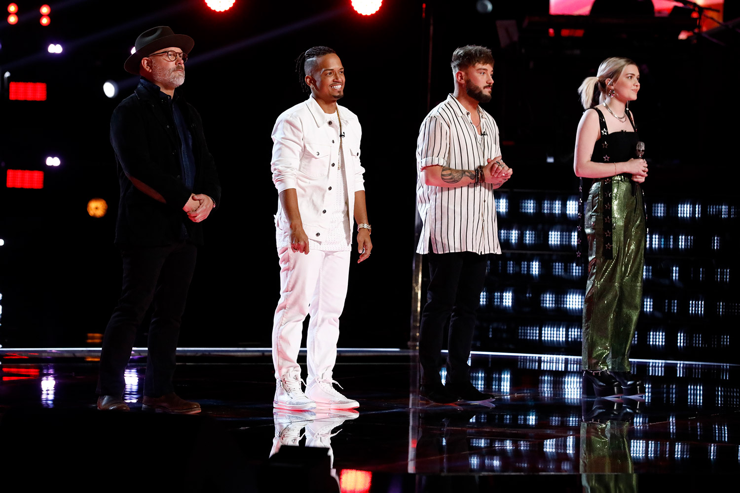 Pete Mroz, Jose Figueroa Jr., Corey Ward, and Ryleigh Modig on 'The Voice'